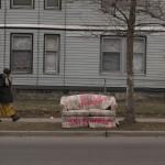 Grand Rapids 1011 Franklin woman walking